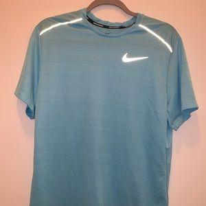 Nike Running Dri-fit Blue Men's Gym Shirt M